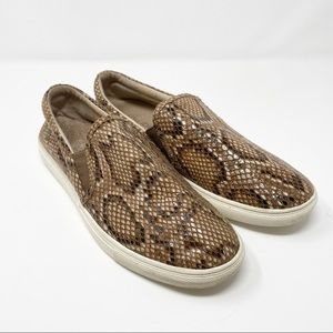 J/Slides // Snake Print Slip On Sneakers